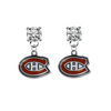 Montreal Canadiens CLEAR Swarovski Crystal Stud Rhinestone Earrings