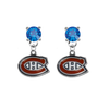 Montreal Canadiens BLUE Swarovski Crystal Stud Rhinestone Earrings