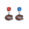 Montreal Canadiens RED & BLUE Swarovski Crystal Stud Rhinestone Earrings