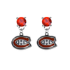 Montreal Canadiens RED Swarovski Crystal Stud Rhinestone Earrings