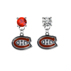 Montreal Canadiens RED & CLEAR Swarovski Crystal Stud Rhinestone Earrings