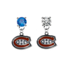 Montreal Canadiens BLUE & CLEAR Swarovski Crystal Stud Rhinestone Earrings