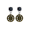 Boston Bruins BLACK Swarovski Crystal Stud Rhinestone Earrings