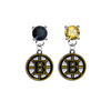 Boston Bruins BLACK & GOLD Swarovski Crystal Stud Rhinestone Earrings