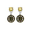 Boston Bruins GOLD Swarovski Crystal Stud Rhinestone Earrings