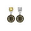 Boston Bruins GOLD & CLEAR Swarovski Crystal Stud Rhinestone Earrings