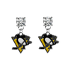 Pittsburgh Penguins CLEAR Swarovski Crystal Stud Rhinestone Earrings