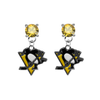 Pittsburgh Penguins GOLD Swarovski Crystal Stud Rhinestone Earrings