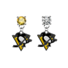 Pittsburgh Penguins GOLD & CLEAR Swarovski Crystal Stud Rhinestone Earrings