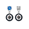 Winnipeg Jets BLUE & CLEAR Swarovski Crystal Stud Rhinestone Earrings
