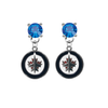 Winnipeg Jets BLUE Swarovski Crystal Stud Rhinestone Earrings
