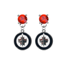 Winnipeg Jets RED Swarovski Crystal Stud Rhinestone Earrings