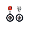Winnipeg Jets RED & CLEAR Swarovski Crystal Stud Rhinestone Earrings