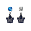 Toronto Maple Leafs BLUE & CLEAR Swarovski Crystal Stud Rhinestone Earrings