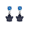 Toronto Maple Leafs BLUE Swarovski Crystal Stud Rhinestone Earrings