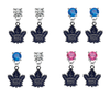 Toronto Maple Leafs NHL Swarovski Crystal Stud Rhinestone Earrings