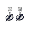 Tampa Bay Lightning CLEAR Swarovski Crystal Stud Rhinestone Earrings