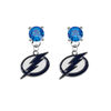 Tampa Bay Lightning BLUE Swarovski Crystal Stud Rhinestone Earrings