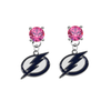 Tampa Bay Lightning PINK Swarovski Crystal Stud Rhinestone Earrings