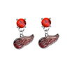 Detroit Red Wings RED Swarovski Crystal Stud Rhinestone Earrings