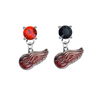 Detroit Red Wings RED & BLACK Swarovski Crystal Stud Rhinestone Earrings