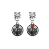 Edmonton Oilers CLEAR Swarovski Crystal Stud Rhinestone Earrings
