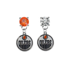 Edmonton Oilers ORANGE & CLEAR Swarovski Crystal Stud Rhinestone Earrings