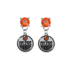 Edmonton Oilers ORANGE Swarovski Crystal Stud Rhinestone Earrings