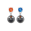 Edmonton Oilers ORANGE & BLUE Swarovski Crystal Stud Rhinestone Earrings