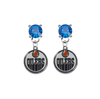 Edmonton Oilers BLUE Swarovski Crystal Stud Rhinestone Earrings