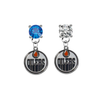Edmonton Oilers BLUE & CLEAR Swarovski Crystal Stud Rhinestone Earrings