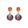New York Islanders ORANGE Swarovski Crystal Stud Rhinestone Earrings