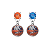 New York Islanders ORANGE & BLUE Swarovski Crystal Stud Rhinestone Earrings