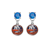 New York Islanders BLUE Swarovski Crystal Stud Rhinestone Earrings