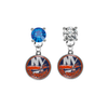 New York Islanders BLUE & CLEAR Swarovski Crystal Stud Rhinestone Earrings