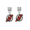 New Jersey Devils CLEAR Swarovski Crystal Stud Rhinestone Earrings