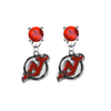 New Jersey Devils RED Swarovski Crystal Stud Rhinestone Earrings