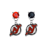 New Jersey Devils RED & BLACK Swarovski Crystal Stud Rhinestone Earrings