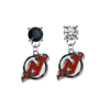 New Jersey Devils BLACK & CLEAR Swarovski Crystal Stud Rhinestone Earrings
