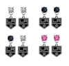 Los Angeles Kings NHL Swarovski Crystal Stud Rhinestone Earrings