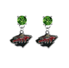 Minnesota Wild GREEN Swarovski Crystal Stud Rhinestone Earrings
