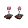 Minnesota Wild PINK Swarovski Crystal Stud Rhinestone Earrings