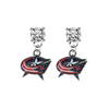 Columbus Blue Jackets CLEAR Swarovski Crystal Stud Rhinestone Earrings