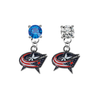Columbus Blue Jackets BLUE & CLEAR Swarovski Crystal Stud Rhinestone Earrings