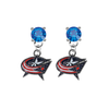 Columbus Blue Jackets BLUE Swarovski Crystal Stud Rhinestone Earrings
