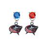 Columbus Blue Jackets BLUE & RED Swarovski Crystal Stud Rhinestone Earrings