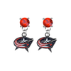 Columbus Blue Jackets RED Swarovski Crystal Stud Rhinestone Earrings