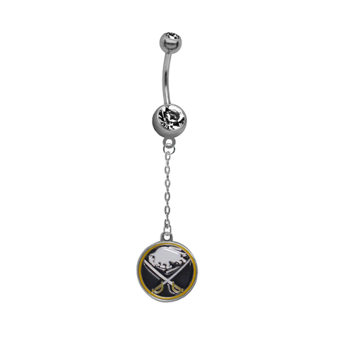 Buffalo Sabres Chain NHL Hockey Belly Button Navel Ring