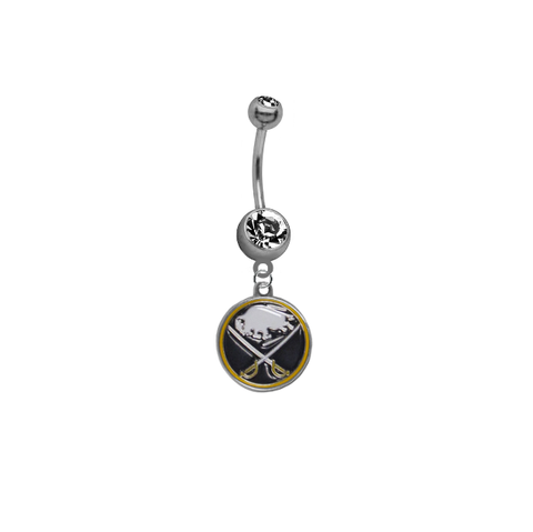 Buffalo Sabres NHL Hockey Belly Button Navel Ring