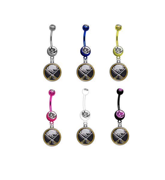 Buffalo Sabres NHL Hockey Belly Button Navel Ring - Pick Your Color